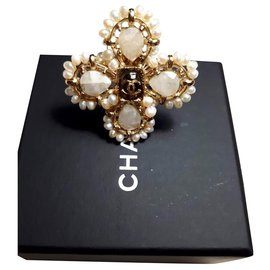 Chanel-Bague Chanel neuve jamais portée-Doré