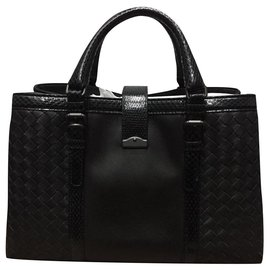 Bottega Veneta-BOTTEGA VENETA ROMA SMALL AYERS LEATHER BLACK NEW-Black