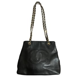 Chanel-Chanel Sac cabas « Grand Shopping » acheté chez Collector Square-Noir