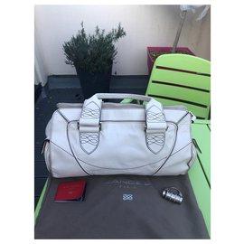 Lancel-Handbags-Eggshell