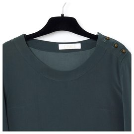 "Chloé-dark gray silk fr ""-:"" _-Grey"