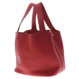 Hermès-Serrure Hermès Picotan MM-Rouge
