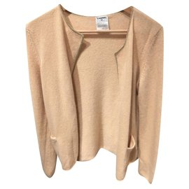 Chanel-Knitwear-Beige,Golden