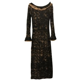 Chanel-Maxi dress alpaca silk mohair wool-Black