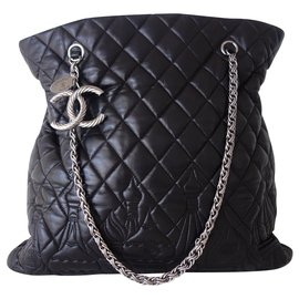 Chanel-SAC CHANEL SHOPPING PARIS-MOSCOU-Noir
