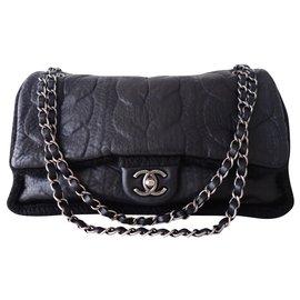 Chanel-BLACK CHANEL CLASSIC BAG-Black