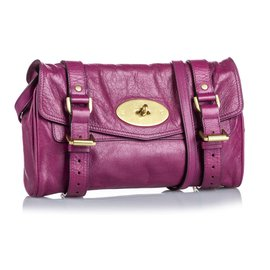 Mulberry-Mulberry Purple Leather Alexa Crossbody Bag-Purple