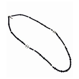 Chanel-Chanel long necklace-Black