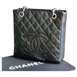 Chanel-Chanel Petite shopping tote PST-Black