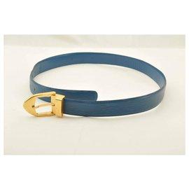 Louis Vuitton-Louis Vuitton Epi Ceinture Classic-Bleu