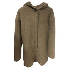 Chanel-Coats, Outerwear-Khaki