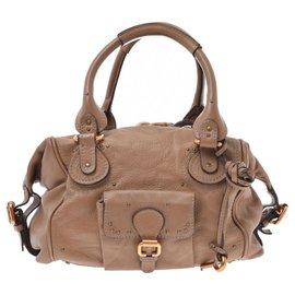 Chloé-Chloé Paddington Leather Bag-Brown