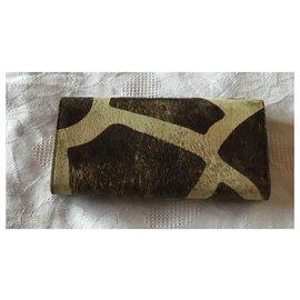 Bulgari-Portefeuille en cuir de vachette Bvlgari-Marron