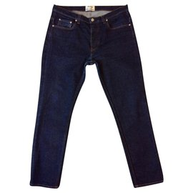 Acne-Raw blue jeans-Blue