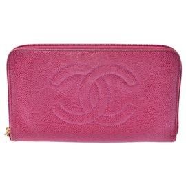 Chanel-Portefeuille Chanel Vintage-Rose