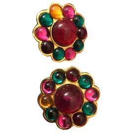 Céline-Boucles d'oreilles-Multicolore