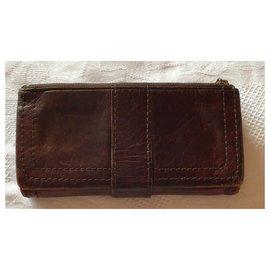 Tsumori Chisato-Tsumori Chisato Leather  Wallet-Brown