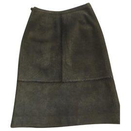Hermès-Skirts-Bronze