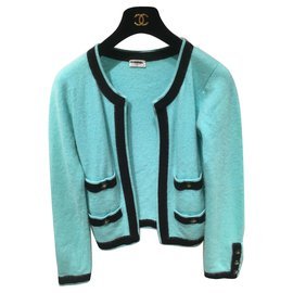 Chanel-Knitwear-Black,Turquoise