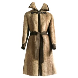 Hermès-Coats, Outerwear-Ebony,Light brown,Dark brown
