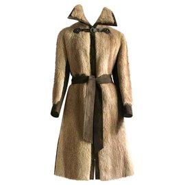 Hermès-Manteaux, Vêtements d'extérieur-Ébène,Marron clair,Marron foncé