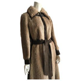 Hermès-Coats, Outerwear-Ebony,Light brown,Dark brown