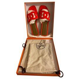 Hermès-Mules Hermès Omaha-Orange