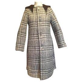 Hermès-Reversible coat-Brown