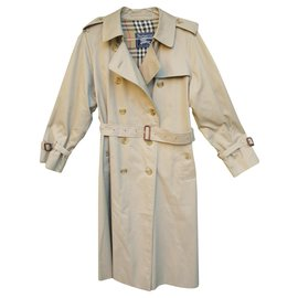 Burberry-vintage Burberry women's trench coat 42-Beige