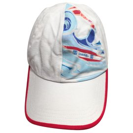 Chanel-Hats-White,Red,Blue