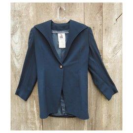 Lanvin-veste vintage Lanvin t 38-Bleu Marine