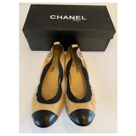 Chanel-Ballet flats-Black,Beige