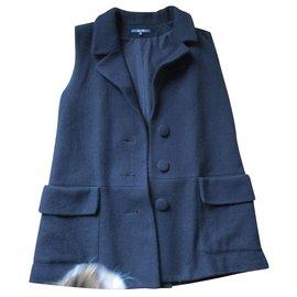 Bel Air-Sur-veste drap de laine, taille 2.-Noir