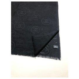 Chanel-Pure cashmere CHANEL stole-Black