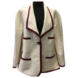 Chanel-Skirt suit-Cream