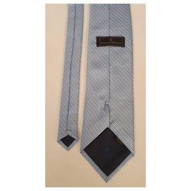 Ermenegildo Zegna-Cravates-Bleu