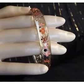 Louis Vuitton-Louis Vuitton - Bracelet jonc à logo transparent avec inclusion de fleurs-Autre
