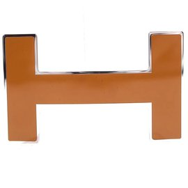 Hermès-Hermes Caramel 32mm H Logo Buckle-Marron