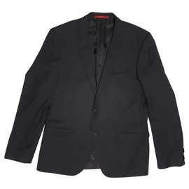 Hugo Boss-Blazers Jackets-Black