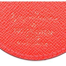 Louis Vuitton-Porte-clés monogramme et cuir rouge Louis Vuitton-Rouge