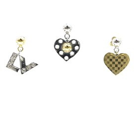 Louis Vuitton-Louis Vuitton Ensemble Percé De 3 Boucles d'oreilles-Multicolore