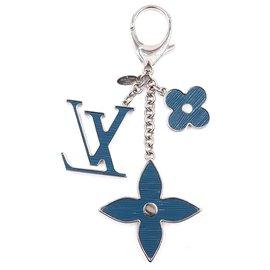 Louis Vuitton-Porte-clés épi monogramme Louis Vuitton-Bleu