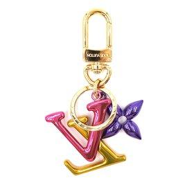 Louis Vuitton-Louis Vuitton Multicolore Signature Lv Porte-clés Charm Chaîne-Multicolore