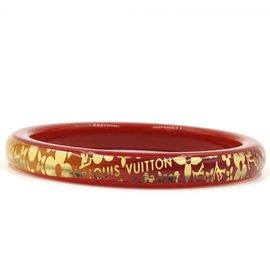 Louis Vuitton-Louis Vuitton - Bracelet jonc à fleurs en or rouge avec monogramme-Rouge