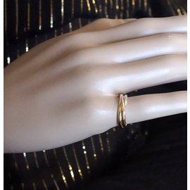 Cartier-cartier 18K 750 Taille de trinité tricolore 51-Multicolore