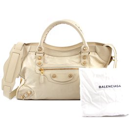Balenciaga-Balenciaga Giant 21 First Classic Studs White Cream Leather-Other