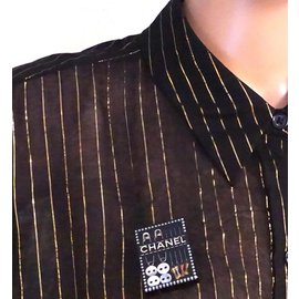 Chanel-Chanel CC Sewing Kit Set Hardware Brooch-Black