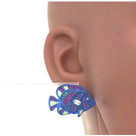 Chanel-Chanel CC Clear Glitters Fishes Earrings-Multiple colors