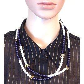 Louis Vuitton-Louis Vuitton Lv Pearls Perles Strand Necklace-Multicolore