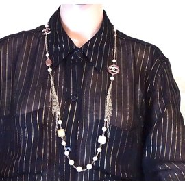 Chanel-Chanel Multicolors CC Pearls Gripoix Necklace-Other